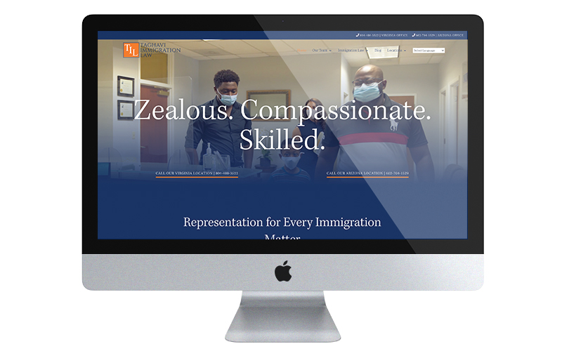 Taghavi immigration law desktop